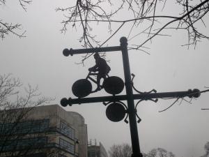 Detalle en una de las ciclorrutas de Breslavia