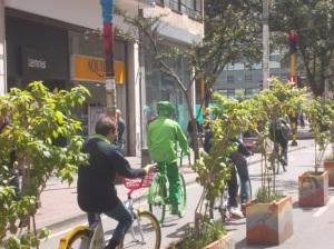 El bicicarril de la carrera Séptima es un corredor perfecto para llegar al centro de Bogotá