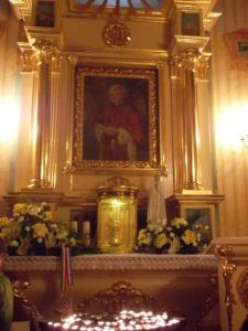 La reliquia con la sangre del Papa (Wadowice)