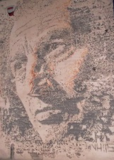 Este es el tipo de obras hechas a punta de taladro y pequeñas explosiones, del brasilero Vhils