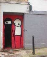 La mujer en la burka, de Stik, en la calle Princelet