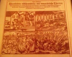 Periódico Newe Zeyttung, en el museo de Ząbkowice Śl.