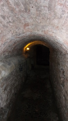 Uno de los pasillos del laboratorio
