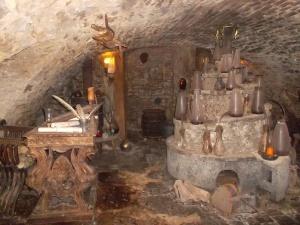 Primer laboratorio, con horno original